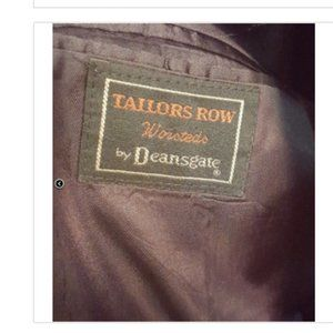 Tailors Row Deansgate Suits & Blazers - Tailors Row Deansgate Charcoal Worsted Wool Suit